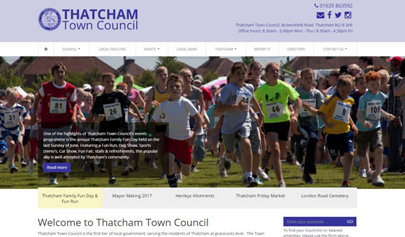 Thatcham town council - website design